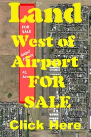 Land West of Airport for Sale - click here